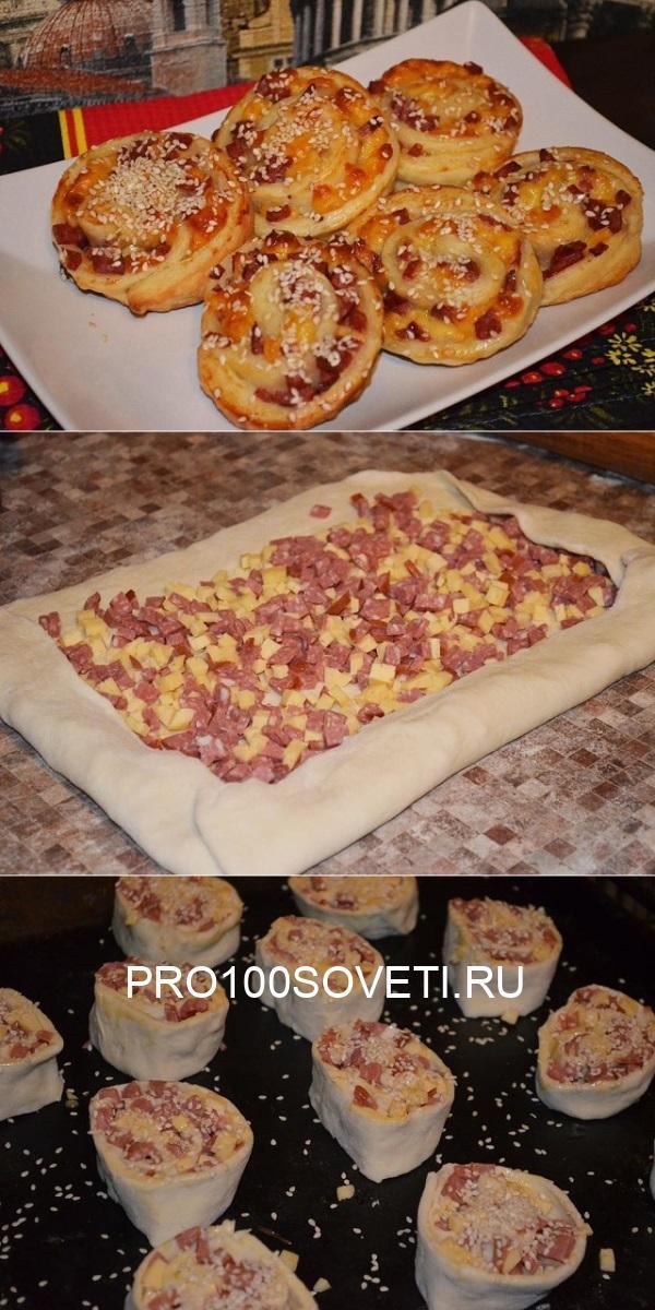 Слойки с колбасой и сыром — самое удачное сочетание! Вкуснее мяса!