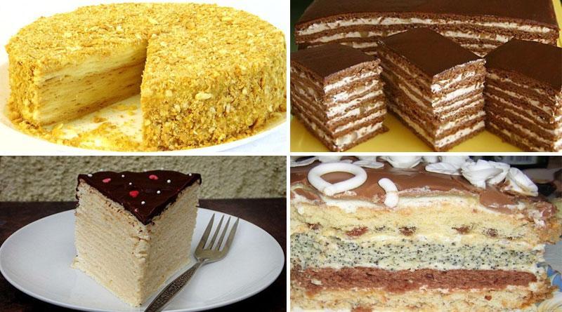 6 самых вкусных домашних тортов. Отличная подборка