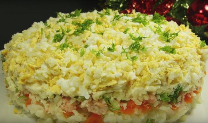 Праздничное меню-салат «Эскиз»