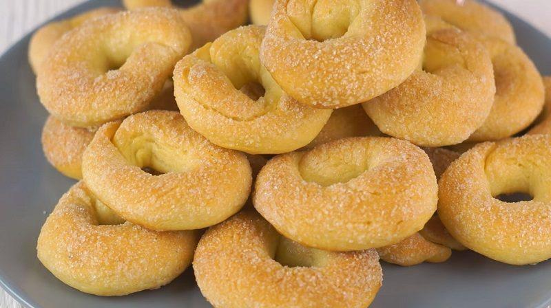 Печенье «Сахарные колечки». Очень вкусно и быстро