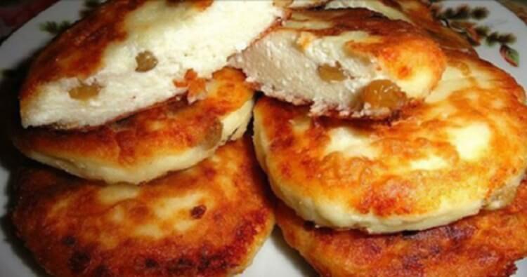 Быстрые и очень вкусные сырники с изюмом