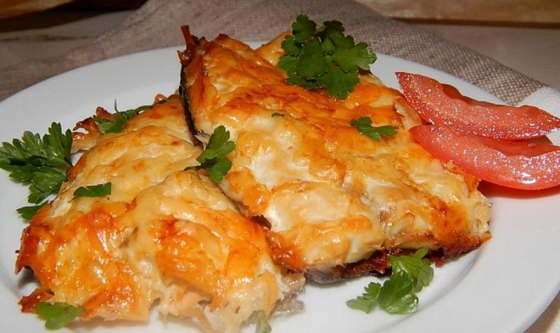 Скумбрия под сыром в духовке. Изумительное блюдо к ужину