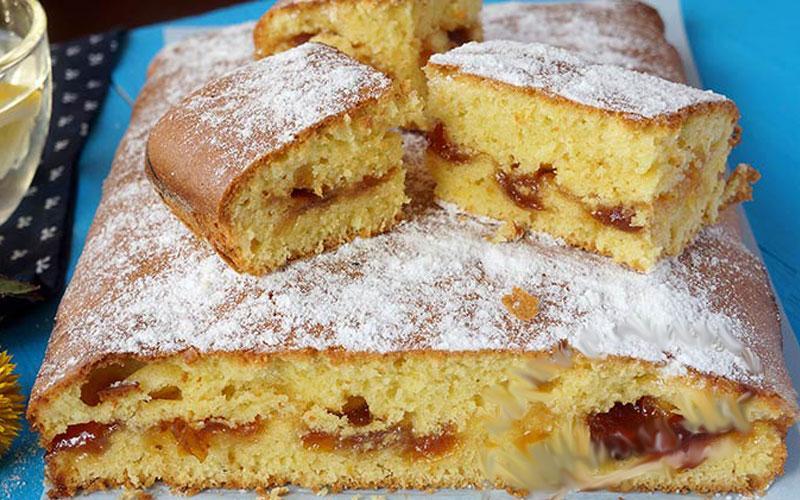Пирог с вареньем на скорую руку. Очень вкусно