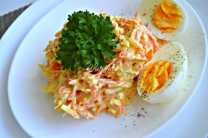 Французский салат с морковью и сыром. Готовьте побольше, очень вкусно