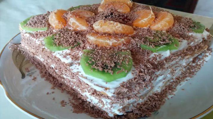 Зимний торт без выпечки за 20 минут. Самый вкусный и простой рецепт