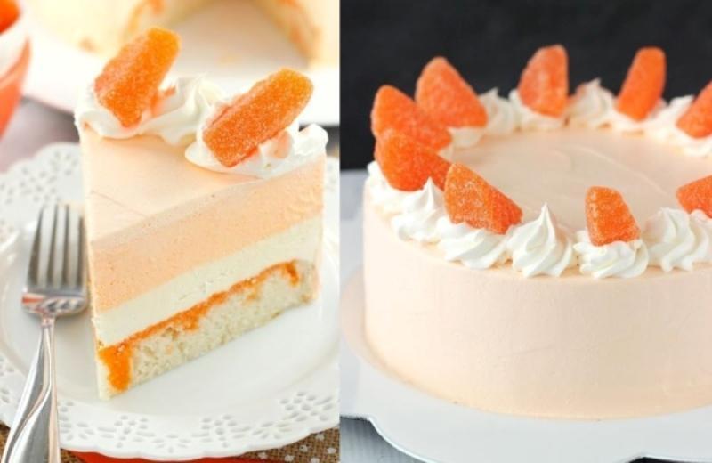 Апельсиновый торт-мороженное