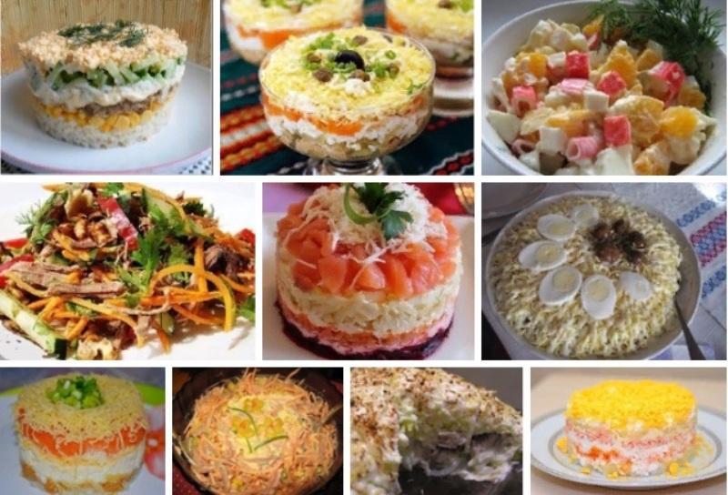 Самые вкусные салаты: 10 рецептов
