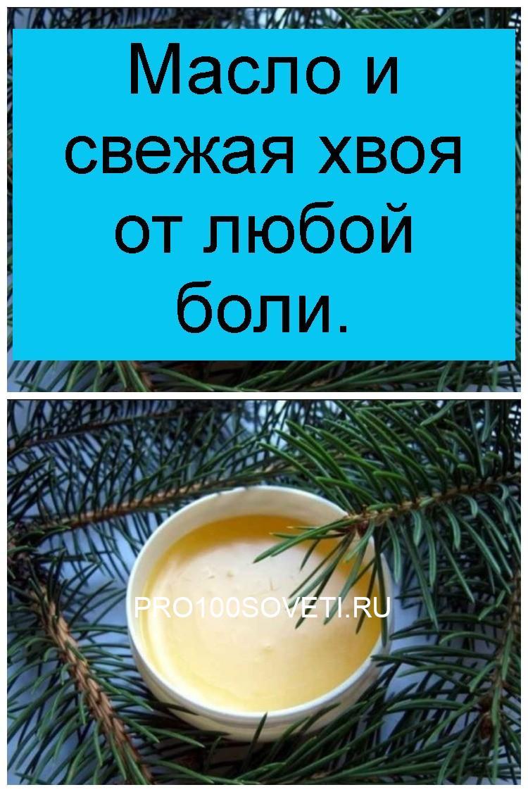 Масло и свежая хвоя от любой боли 4