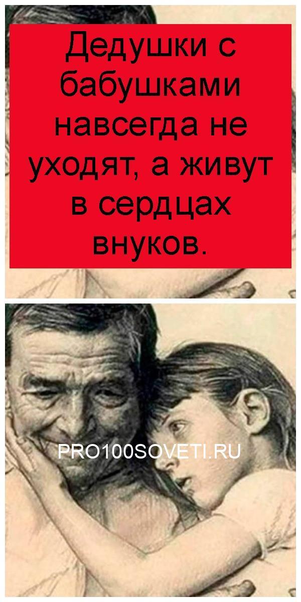 Дедушки с бабушками навсегда не уходят, а живут в сердцах внуков 4